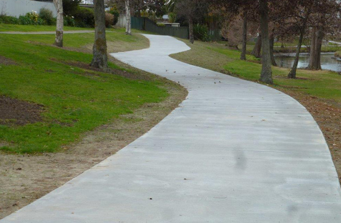 Napier cycleway that uses cellulose fibre reinforcement to stop cracking