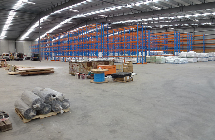 A large indoor slab with steel fibre reinforcing, Tui Garden Products