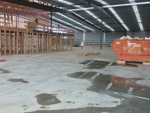 Indoor shot of the new slab showing the size and scale possible with Permaforce steel fibre reinforcing