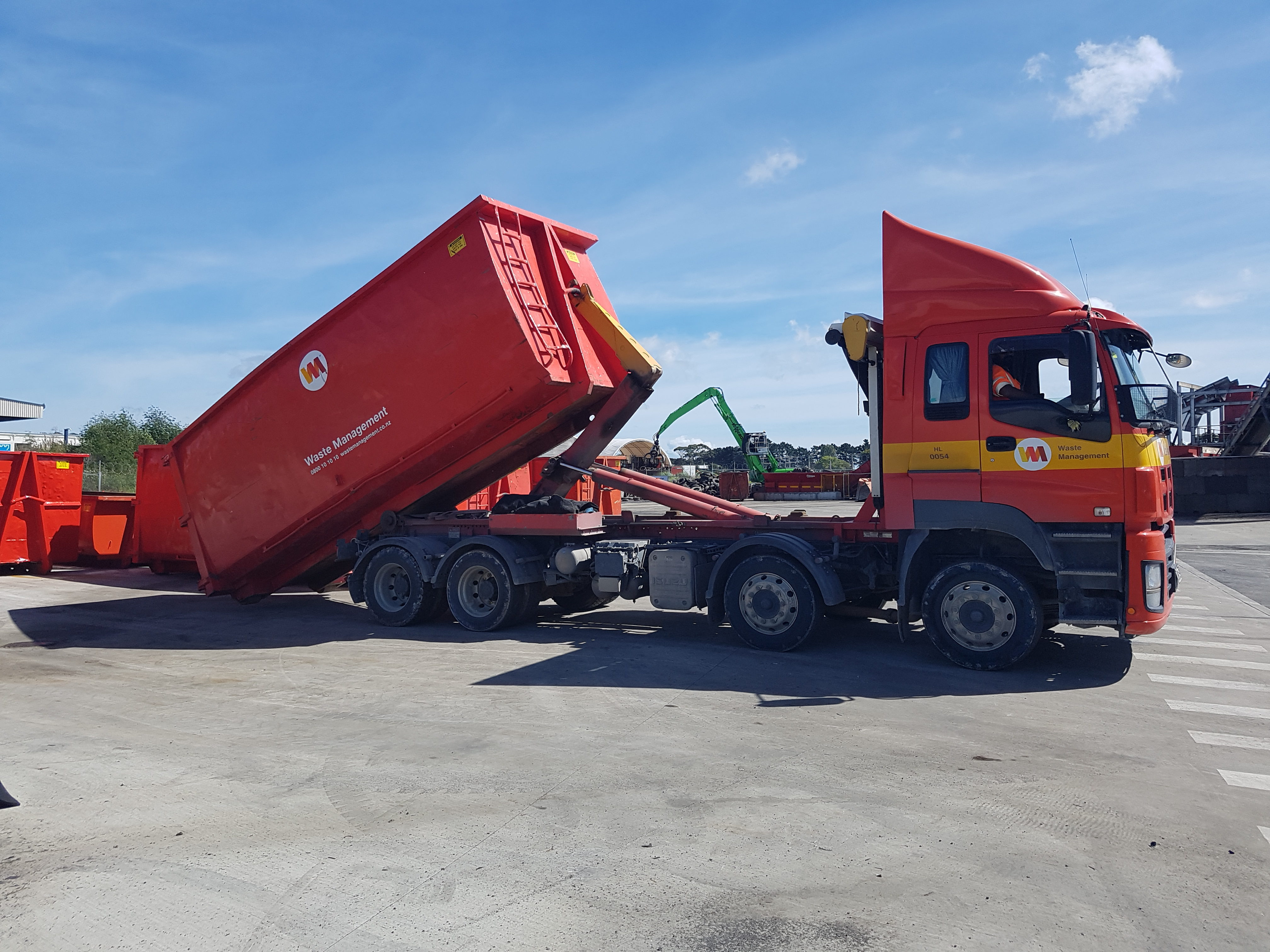A large truck demonstrates the load bearing ability of Inforce steel fibre concrete slabs