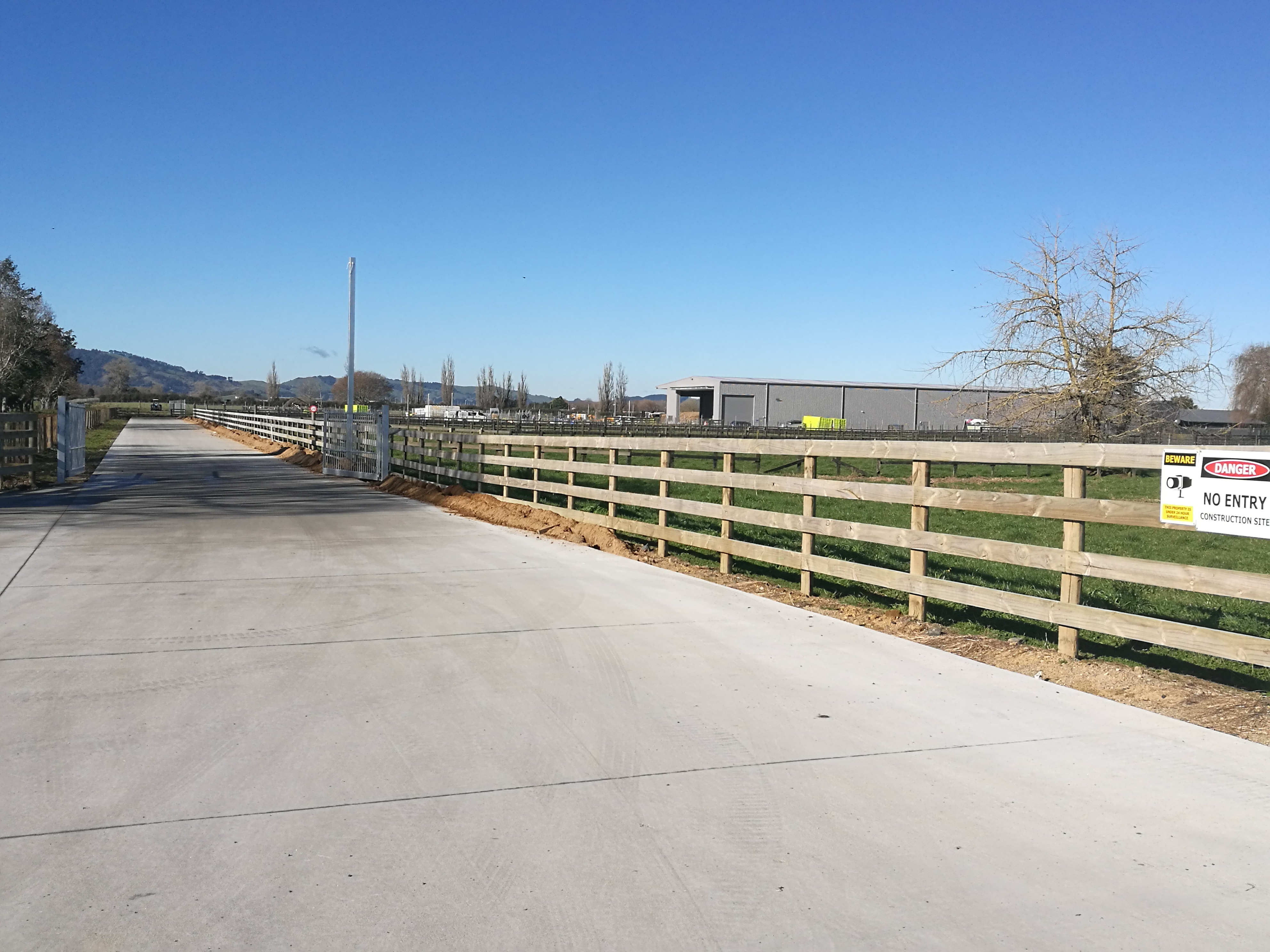 A large rural driveway reinforced with Inforce fibre