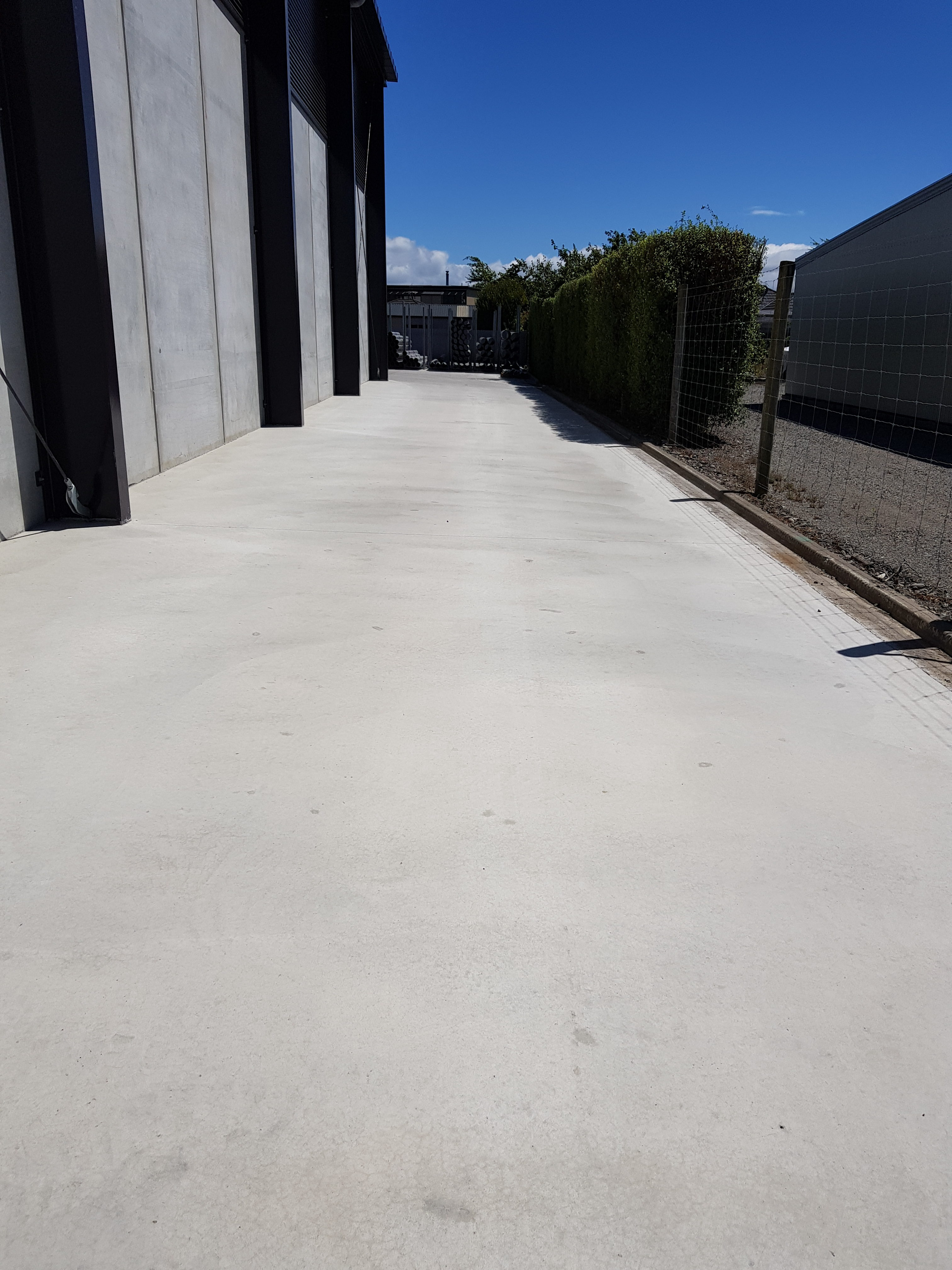 Large concrete driveway for heavy traffic