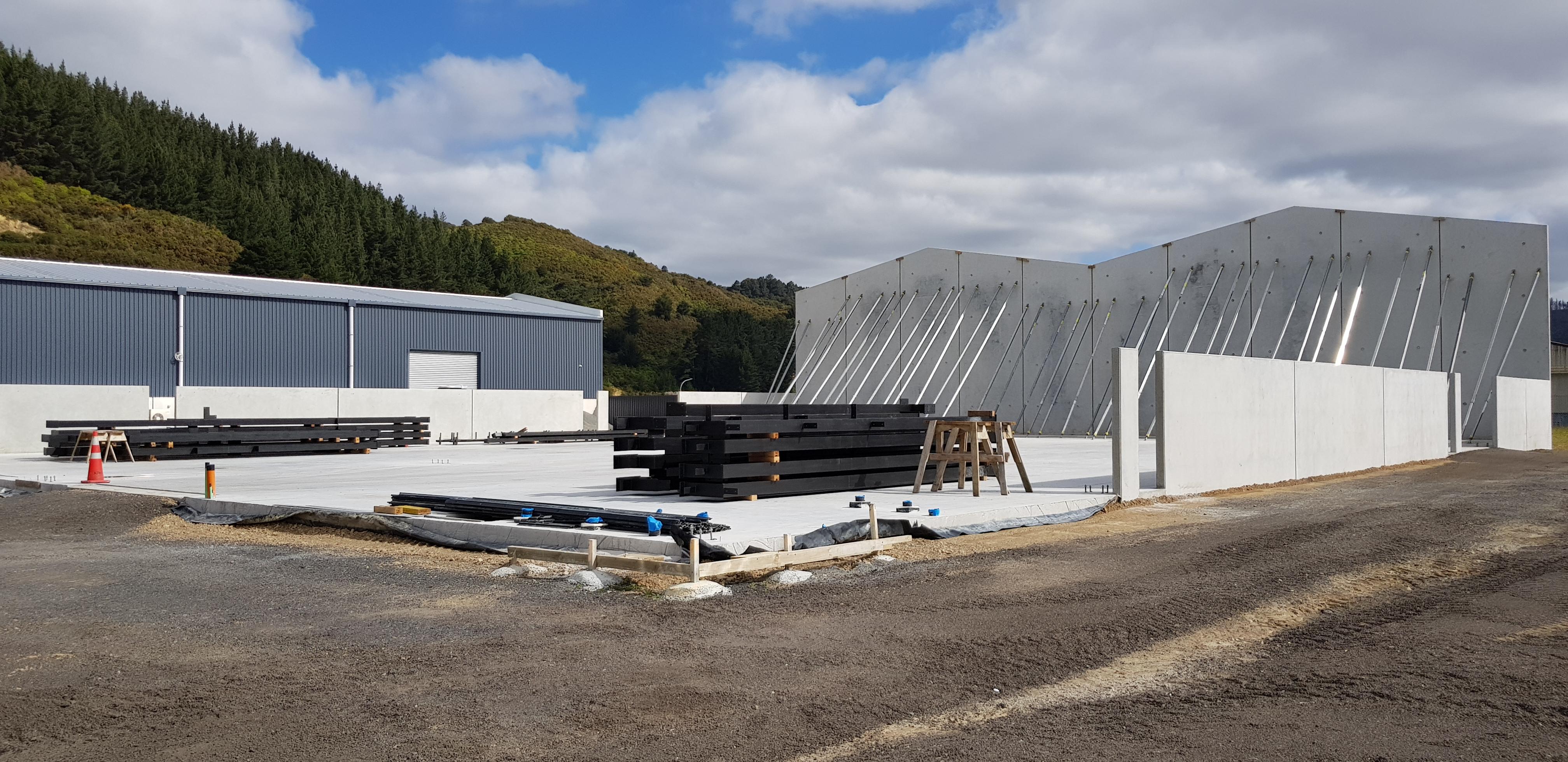 Load bearing steel reinforced fibre slab by Inforce in action